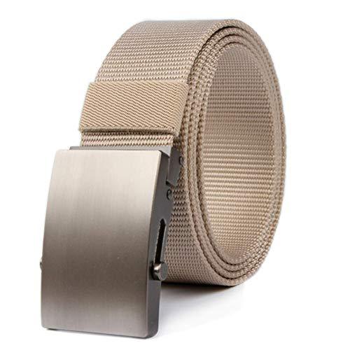 Zwl cintura regolabile tessuto in nylon moda ecologica facile traspirante singolo anello fibbia automatica adatto per gli adulti,khaki