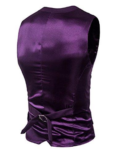 SOIXANTE -  Gilet  - Basic - Senza maniche  - Uomo Violet