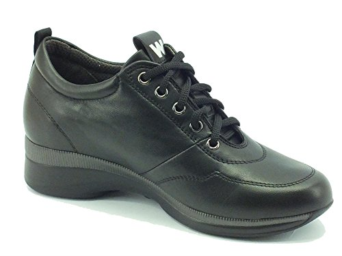 Sneakers Melluso Walk per donna in pelle nera Nero