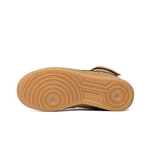 Nike Air Force 1 High Lv8 (Gs), Chaussures de Sport-Basketball Garçon Marron - Marrón (Flax / Flax-Outdoor Green)