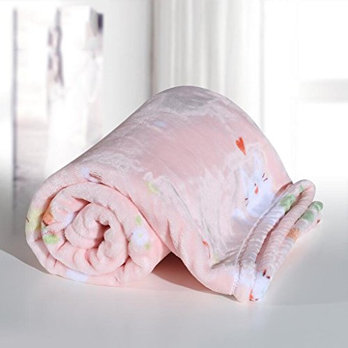 YAOHAOHAO Rosa Katze Muster babydecke Decke Polyester Material Winter Kindergarten Konzipiert für Baby (100*150cm)