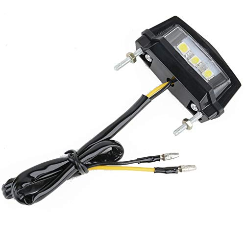 3 LEDs Motorrad Schwarz Mini LED Kennzeichenbeleuchtung Rücklicht Lampe
