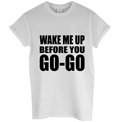 Unisex White Wake Me Up Wham Lyrics T-shirt