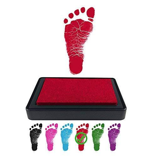 Baby Footprint Stempelkissen für Handabdrücke, 100% ungiftige und säurefreie Tinte, einfach zu reinigen/abwaschen, wischfest und langlebig, Schwarz