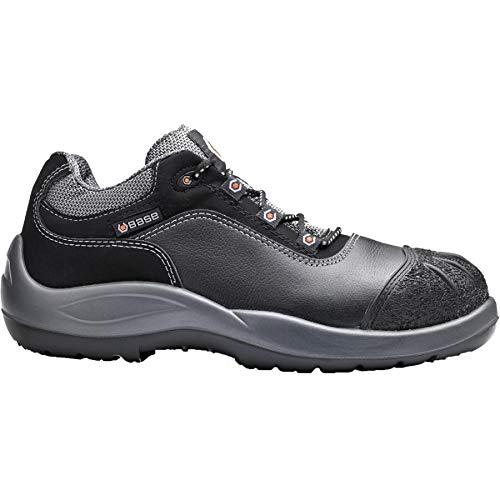 BASE Sicherheits-Halbschuh Sicherheits-Schuh Arbeitsschuh MOZART - S3 SRC BGR191 - schwarz/grau - Größe: 41