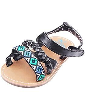 PAOLIAN Zapatos Para Bebés Niñas Primeros Pasos Verano Playa Tejido Sandalias de Vestir Bohemio Antideslizante...