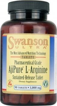 Swanson AjiPure L-Arginine Tablets, 1000 mg, 90-Count
