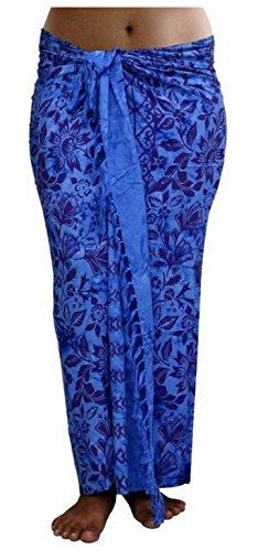 ca.100 Modelle im Shop Sarong Strandtuch Pareo Wickelrock Loop Stola blau Sar41