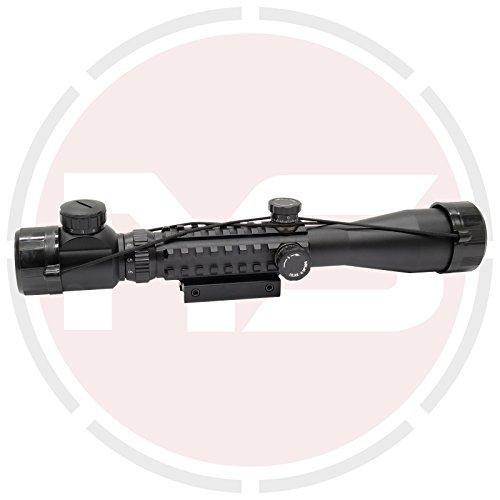 72d204f4907 SUS MONUMENTOS 3-9x40 Alcance del rifle con Táctico Rieles para COLA DE.