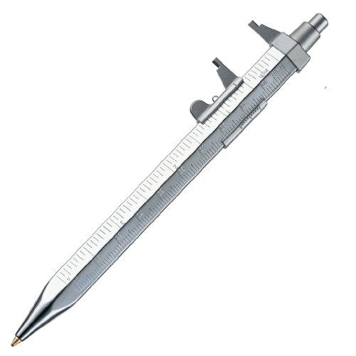 Calibre vernier, cuchillo de rodadura y bolígrafo en un cómodo aparato