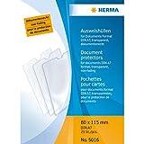 HERMA 5016 Ausweishülle Schutzhülle Ausweishalter (80 x 115 mm, transparent) geeignet für Dokumente im Format DIN A7, 25 Kartenhüllen