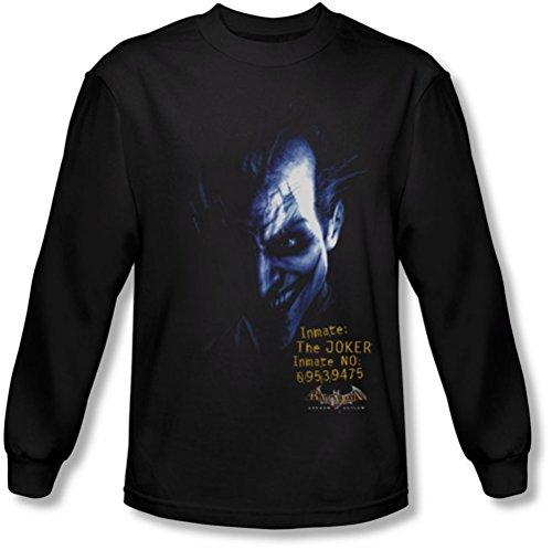 Batman - - Männer Arkham Joker Langarm-Shirt in Schwarz Black