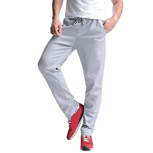 Sport Hose Herren, FEITONG Männer Sport Hosen Hip Hop Jogginghose Fitness Athletischen Beiläufig Hose (XL, Grau)