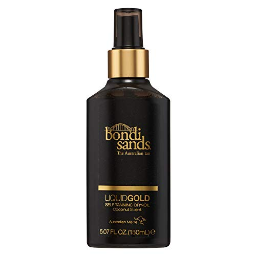 Bondi Sands- Liquid Gold Self Tanning Dry Oil Provides a Longer Lasting Tan and Skin Hydration (150ML)
