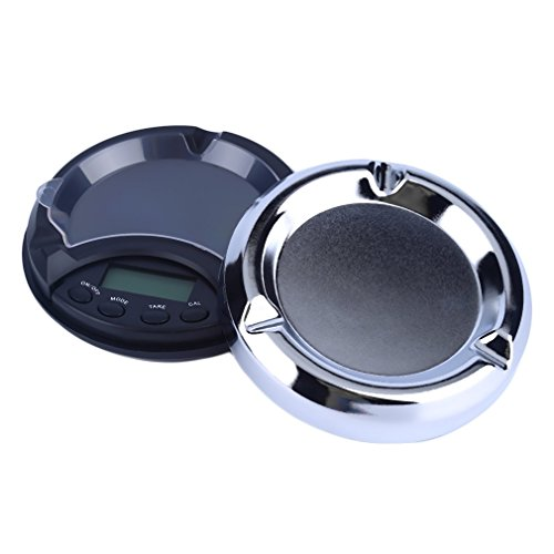 Features:Unique appearance of an ash tray100g capacity and 0.01g readabilityLCD display with backup lightMultiple weighing modes: gram, ounce, carat, and grainTare functionAuto power offOverload indicatorIdeal for precision weighing of precious me...