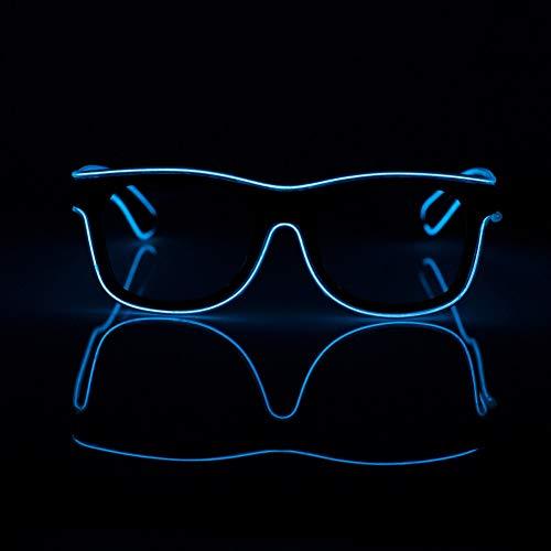 YHLVE Gafas LED, EL Wire Fashion Neon Gafas Sol luz