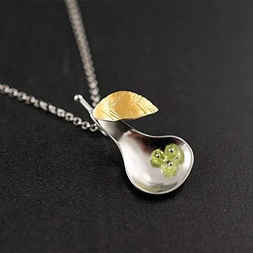 Birne Anhänger Halskette, Sterling Silber Halskette Anhänger, Frucht-Halskette, Früchte Anhänger, Halsketten für Frauen - Frauen Frucht