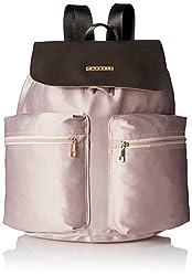 Caprese Alistair Women's Handbag (Pale Pink And Brown)