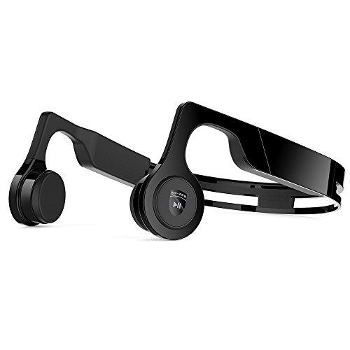 Cuffie a conduzione ossea, juhall cuffie wireless bluetooth v4.2 headset sport microfono incorporato antisudore per iphone, android, altri dispositivi compatibili bluetooth