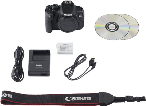 Canon EOS 700D SLR-Digitalkamera (18 Megapixel, 7,6 cm (3 Zoll) Touchscreen, Full HD, Live-View) nur Gehäuse -