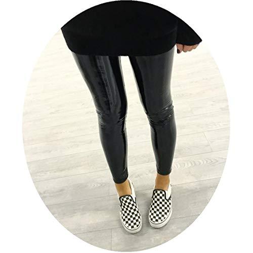 Stricken Damen Yoga-hose (Lederleggings Reflektierende Yoga Jogginghose Piebo Damen Mädchen Yoga Leggings Damen Stretchy Shiny Sport Fitness Leggings Faux PU Leder Leggins Hohe Taille Hüfthoch Strumpfhose Hose)