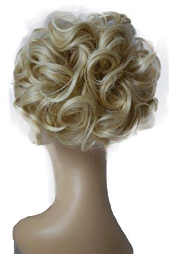 PRETTYSHOP Dutt Haarteil Zopf Haarknoten Hepburn-Dutt Haargummi Hochsteckfrisuren Div. Farben platinblond #613A HK111