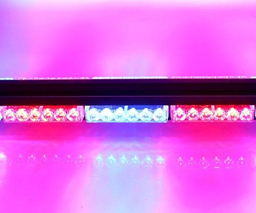 HEHEMM Double Side 36LED 108W Lang Auto Truck Notfall Strobe Flash Light Bar Scanner Lampe Beacon Gitter Lightbar