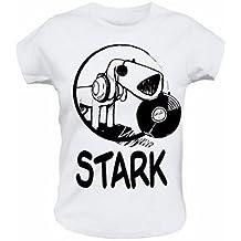 Ich + Ich - Stark Hund Girlie Shirt weiß/white - Größe/Size: L (Large)