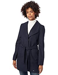 TOM TAILOR Denim Damen Mantel Belted Wool Coat