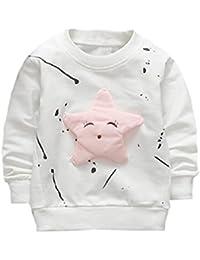 �� Camisetas para 0-2 Años, �� Zolimx Bebé Niños Niñas Trajes Ropa Recién Nacido Estrella Impresa Algodón Manga Larga Camiseta Tops Sudaderas