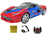 Popsugar Ferrari 1:18 Three Door Opening Car with Rechargeable Battery and Charger RC