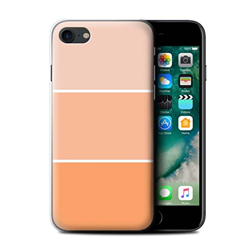 Stuff4 Hülle / Case für Apple iPhone 7 / Braun Muster / Pastell Farbton Kollektion Orange