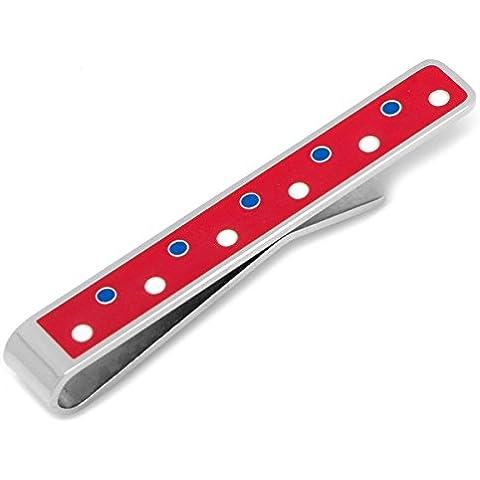 Polka rosso, bianco e blu patriottico dot Holm barra di collegamento cravatta