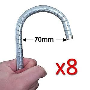 8x ancrage au sol galvanisé (12 mm x 295 mm) pour clôture | Polytunnel | Pavillon | Auvents | Trampoline.