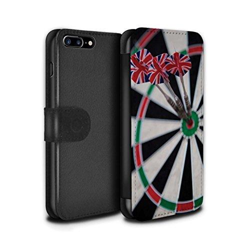 Stuff4 Coque/Etui/Housse Cuir PU Case/Cover pour Apple iPhone 8 Plus / Tripler bullseye Design / Fléchettes Photo Collection Tripler bullseye