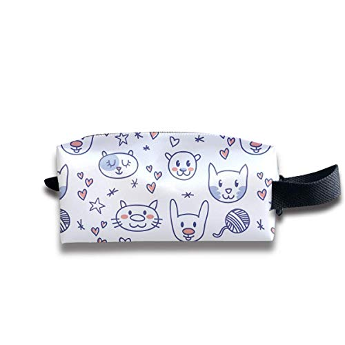 Free Cute Animal Pattern Women Cosmetic Bag Travel Girls Oxford Toiletry Bags Lovely Portable Hanging Organizer Makeup Pouch Pencil Case