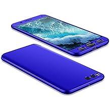 Xiaomi MI Note 3 Funda , Combinación Funda Cover para Xiaomi MI Note 3 , Moevn Carcasa 360 Grados Protección Case Cover Duro Anti Skid Anti Rasguño Color PC Funda para Xiaomi MI Note 3 - 5.5 Pulgadas - Azul