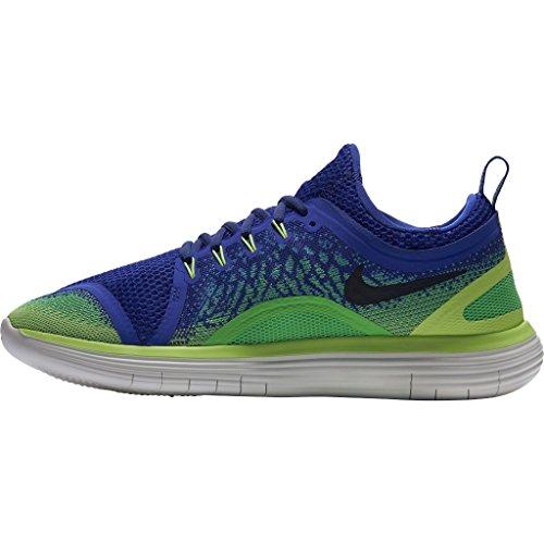 Nike Free RN Distance 2, Scarpe da Corsa Uomo Blu (Paramount Blau/schwarz-elektro Grün)