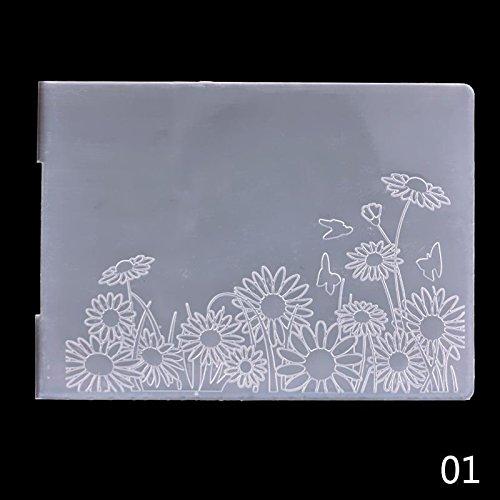 Teabelle Neueste Klassischen Muster Kunststoff Prägeschablone für Scrapbook DIY Album Karte Werkzeug Vorlage #1