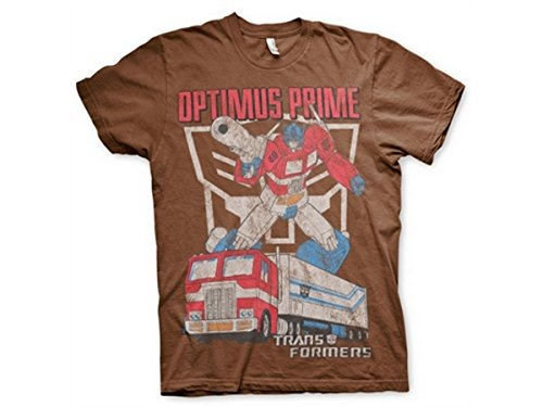 Transformers - T-Shirt - Manches Courtes - Homme -  marron - Medium