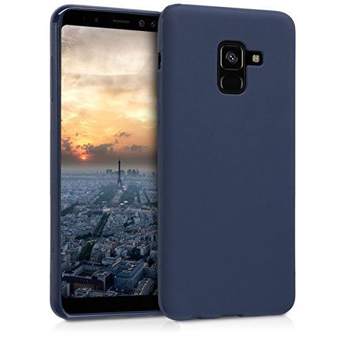 kwmobile Samsung Galaxy A8 (2018) Hülle - Handyhülle für Samsung Galaxy A8 (2018) - Handy Case in Dunkelblau matt