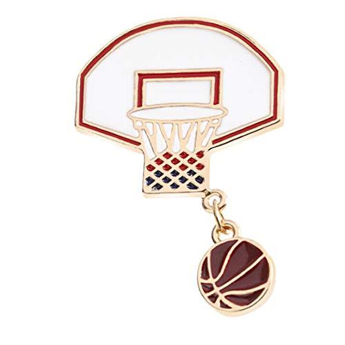 eit Abzeichen Kreative Basketball Box Brosche Sport Stil Tasche Shirt Zubehör Jungen Mädchen Ornamente Schmuck ()