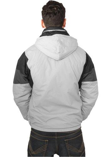 URBAN CLASSICS – Nylon Hoody (grey/black/dark grey) – Jacke - 2