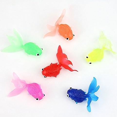 Les jouets de bain pour enfants et les décorations de poissons / poissons rouges sardine simulation environnementale peuvent flotter sur l'eau (10 poissons
