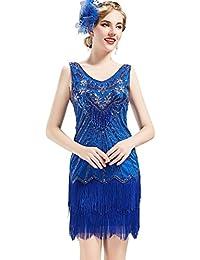 f8e583e3ad0a Babeyond Vestito Gatsby Donne 1920s Vestito Abito Anni 20 Donna Flapper  Dress 1920s Vestito da Sera Paillette…
