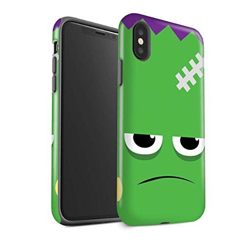 Stoßfest Hülle / Case für Apple iPhone X/10 / Frankenstein Muster / Halloween Zeichen Kollektion (Frankenstein Halloween-maske)