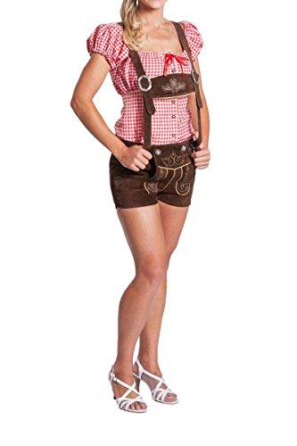 1f6f25ac2983 FROHSINN Damen Trachten Lederhose kurz, Trachtenlederhose, braun, Größe 38