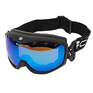 Cairn - Rage spx3000 blue iridium - Masque de ski double écran - Noir - Taille Unique