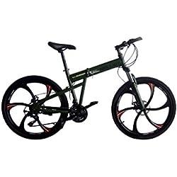Helliot Bikes Hummer02 Bicicleta Mountain Bike-Plegable, Unisex