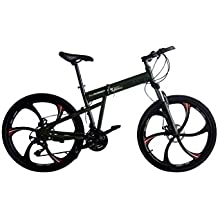 Helliot Bikes Hummer02 Bicicleta Mountain Bike-Plegable, Unisex Adulto, Verde Militar, Estándar